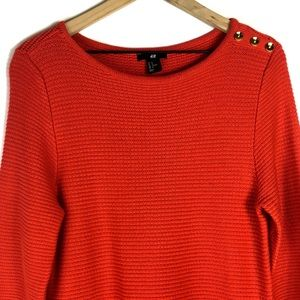 H&M Long Sleeve Red Knit Sweater Dress